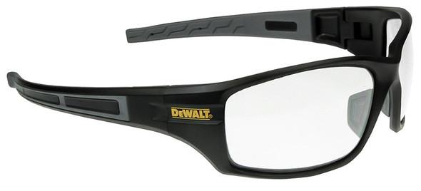 DeWalt Auger Safety Glasses with Black/Gray Frame and Clear Lenses
