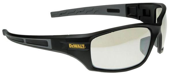 DeWalt Auger Safety Glasses with Black/Gray Frame and Indoor/Outdoor Lenses