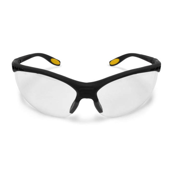 DEWALT Reinforcer Safety Glasses with Clear Anti-Fog Lens DPG58-11D Front View