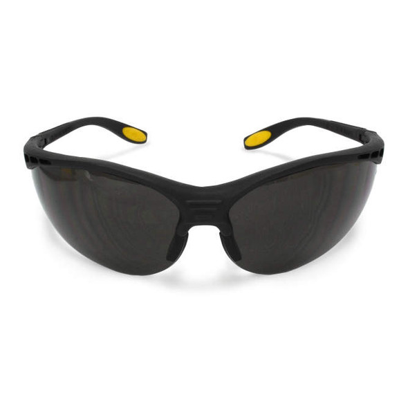 DEWALT Reinforcer Safety Glasses with Smoke Lens DPG58-2D Front View
