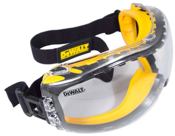 DeWalt Concealer Safety Goggles with Clear Anti-Fog Lens DPG82-11