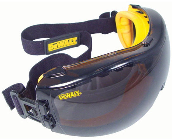 DeWalt Concealer Safety Goggles with Smoke Anti-Fog Lens DPG82-21