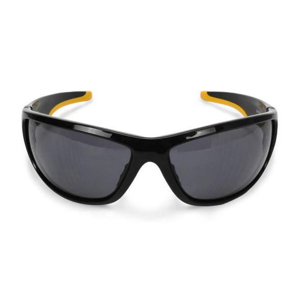DeWalt Dominator Safety Glasses with Black Frame and Smoke Lens DPG94-2D Front View