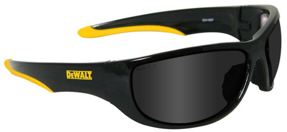 DeWalt Dominator Safety Glasses with Black Frame and Smoke Lens DPG94-2D