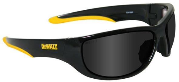 DeWalt Dominator Safety Glasses with Black Frame and Smoke Lens DPG94-2D