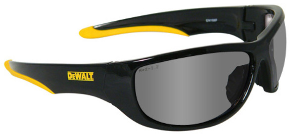 DeWalt Dominator Safety Glasses with Black Frame and Silver Mirror Lens DPG94-6D