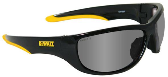 DeWalt Dominator Safety Glasses with Black Frame and Silver Mirror Lens DPG94-6D