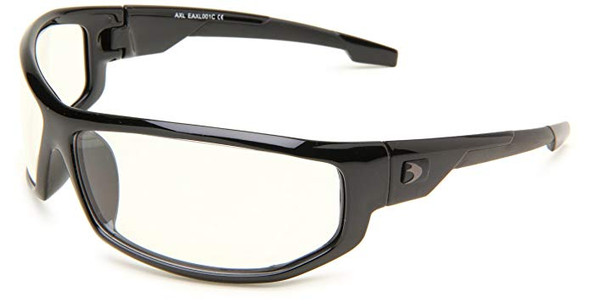 Bobster AXL Motorcycle Glasses with Black Frame and Clear Anti-Fog Lenses