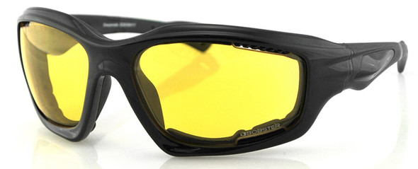 Bobster Desperado Sunglasses with Black Frame and Yellow Lenses