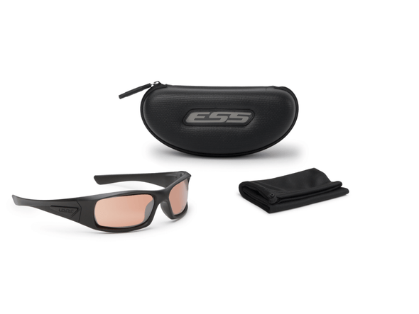 ESS 5B Ballistic Sunglasses Black Frame Copper Lenses EE9006-02 Kit Items