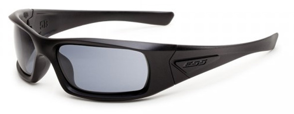 ESS 5B Sunglasses Black Frame Polarized Gray Mirror Lenses EE9006-03