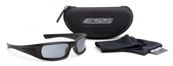 ESS 5B Ballistic Sunglasses Black Frame Smoke Gray Lenses EE9006-06 Kit