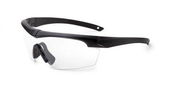 ESS Crosshair Safety Glasses with Black Frame and Clear Lens
