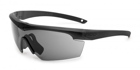 ESS Crosshair Eyeshield with Black Frame and Smoke Gray Lens