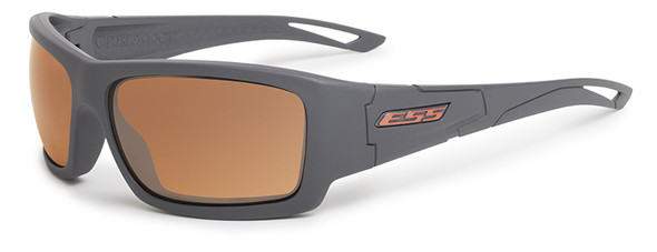 ESS Credence Ballistic Sunglasses Gray Frame Mirrored Copper Lenses EE9015-02