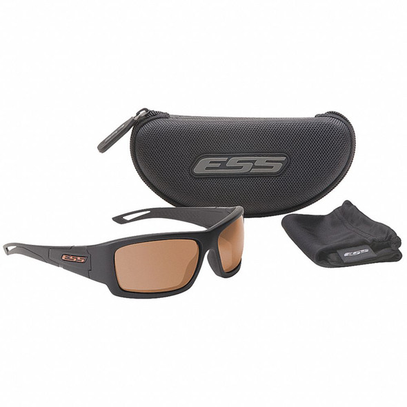 ESS Credence Ballistic Sunglasses Black Frame Mirrored Copper Lenses EE9015-06 Kit