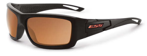 ESS Credence Ballistic Sunglasses with Black Frame and Mirrored Copper Lenses