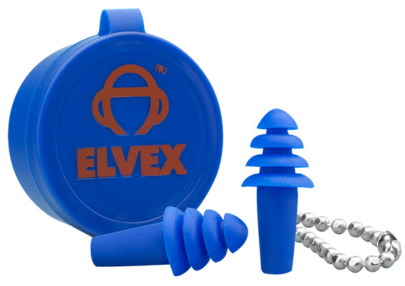 Elvex Quattro Uncorded Earplugs with Case NRR-25 EP-402