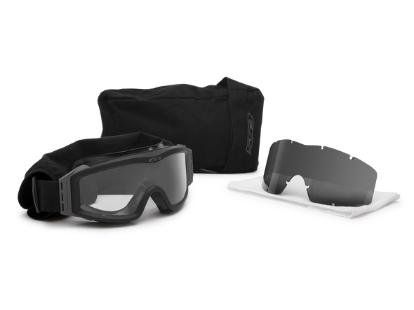 ESS Profile NVG Goggles Black with Clear and Gray Lenses 740-0499 Kit
