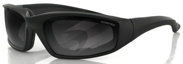 Bobster Foamerz 2 Safety Sunglasses with Black Frame and Anti-Fog Smoke Lens