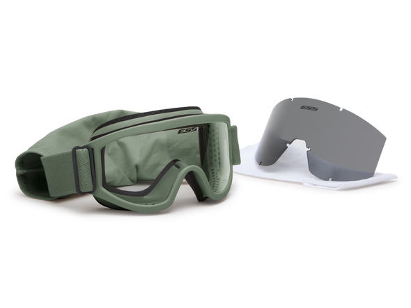 ESS Land Ops Goggle Foliage Green with Clear and Gray Lenses 740-0502 Kit