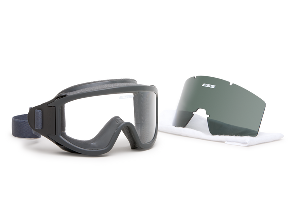 ESS Flight Deck Goggles with Clear and Smoke Gray Lenses 740-0333 With Both Lenses