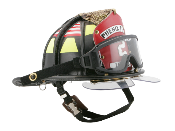 ESS Innerzone 2 NFPA 1971-2013 Fire Goggles 740-0268 Installed On Helmet
