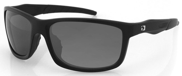 Bobster Virtue Sunglasses with Matte Black Frame and Smoke Anti-Fog Lenses