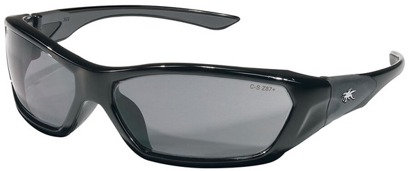 Crews ForceFlex Safety Glasses with Black Frame and Gray Lens FF122