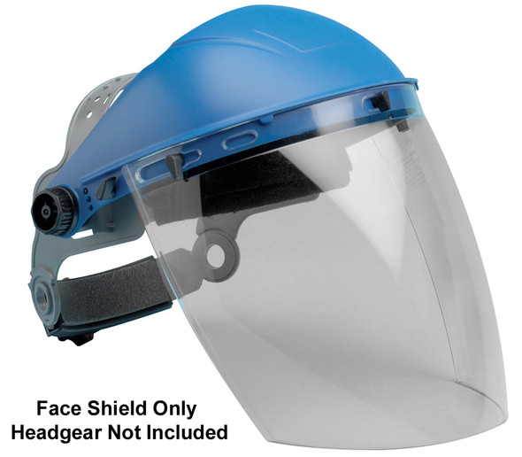 "Elvex Clear Aspherical Polycarbonate Face Shield 8"" x 12"" x 2mm"