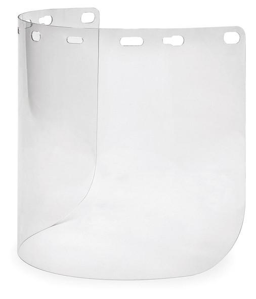 "Elvex Clear Hardcoated Lexan Face Shield 8"" x 15.5"" x 2mm"