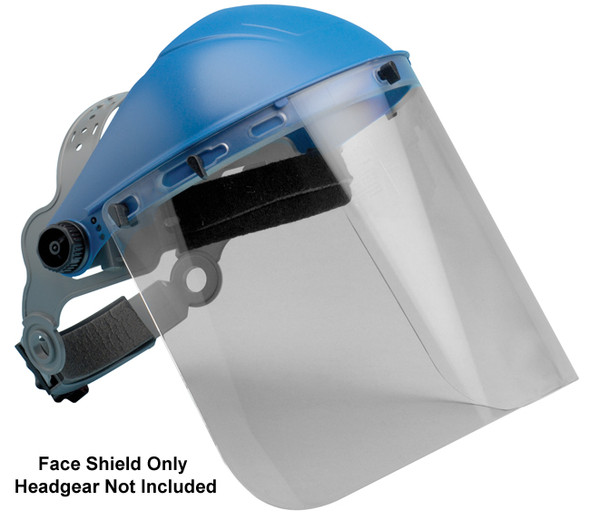 "Elvex Clear Polycarbonate Face Shield 8"" x 15.5"" x 2 mm"