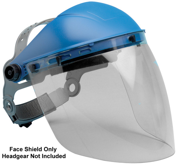 "Elvex Clear Aspherical Polycarbonate Face Shield, Anti-Fog & Anti-Static, 8"" x 16"" x 2 mm"