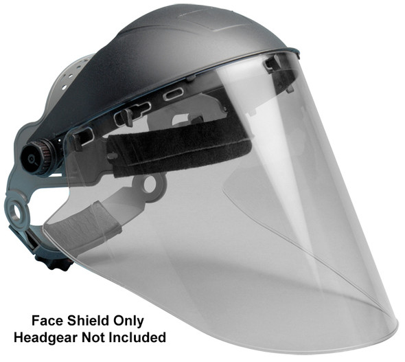 "Elvex Clear Hardcoated Lexan Face Shield 10"" x 18.5"" x 2mm"