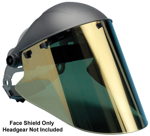 "Elvex High Heat Gold Hardcoated Lexan Face Shield 10"" x 18.5"" x 2mm"