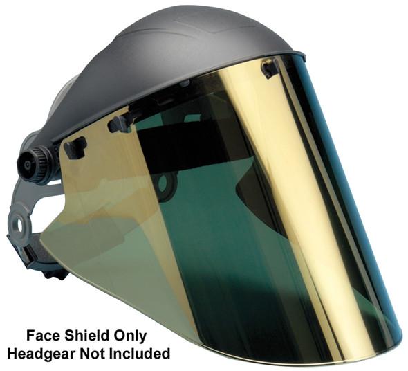 """Elvex High Heat Gold Hardcoated Lexan Face Shield 10"""" x 18.5"""" x 2 mm"""