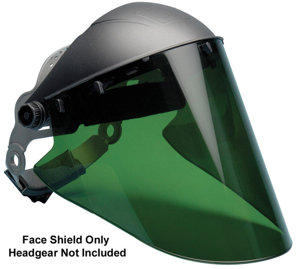"Elvex Green Lexan Face Shield 10"" x 18.5"" x 2 mm"
