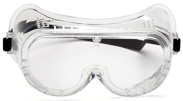 Pyramex G201T Perforated Goggle with Clear Anti-Fog Lens - Front