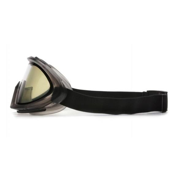 Pyramex Capstone Safety Goggles Gray Frame Dual Clear Anti-Fog Lens