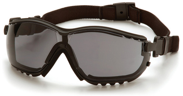 Pyramex V2G Safety Glasses/Goggles with Black Frame and Gray Anti-Fog Lens GB1820ST