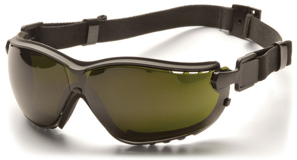 Pyramex V2G Safety Glasses/Goggles with Black Frame and Shade 5 Lens