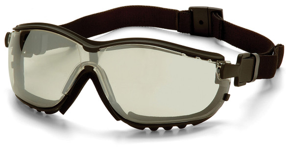 Pyramex V2G Safety Glasses/Goggles with Black Frame and Indoor/Outdoor Anti-Fog Lens
