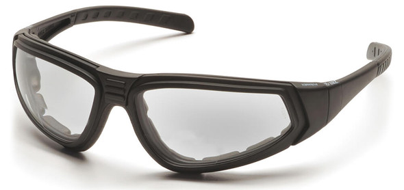 Pyramex XSG Goggle with Black Frame and Clear Anti-Fog Lens with Temples