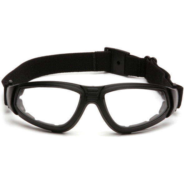 Pyramex XSG Goggle Black Frame Clear Anti-Fog Lens with Strap GB4010ST Front