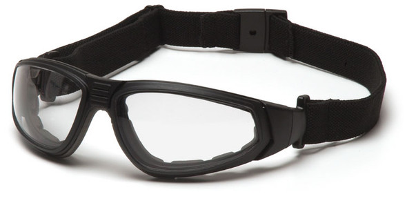 Pyramex XSG Goggle with Black Frame and Clear Anti-Fog Lens with Strap