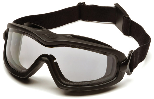 Pyramex V2G Plus Goggles with Black Frame and Dual Clear Anti-Fog Lens GB6410SDT