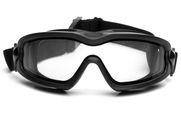 Pyramex V2G Plus Goggles with Black Frame and Dual Clear Anti-Fog Lens GB6410SDT - Front