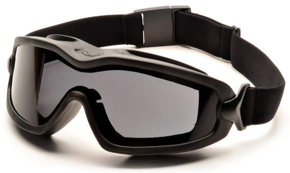 Pyramex V2G Plus Safety Goggle with Black Frame and Dual Gray Anti-Fog Lens