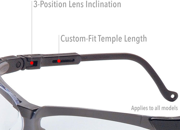 Uvex Genesis Safety Glasses Frame Features