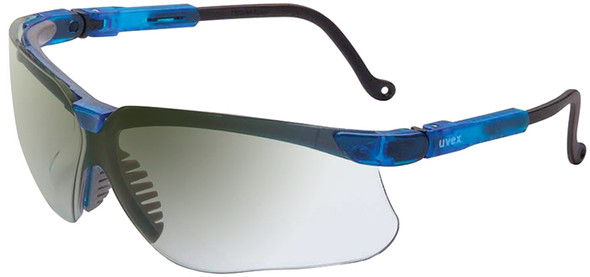 Uvex Genesis Safety Glasses with Vapor Blue Frame and Ref50 Lens S3244
